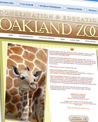 Oakland Zoo Landing Page